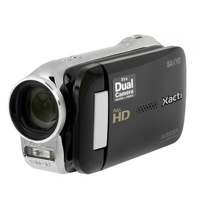 Xacti VPC-GH2 HD Camcorder & 14MP Camera w/12x Optical Zoom - Black