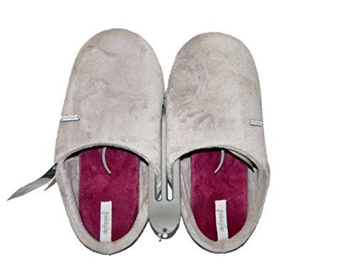DE FONSECA Pantofole ciabatte profumate donna in panno e fondo in gomma GRIGIO
