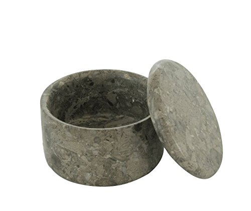 Marble Stone Small Covered Shave Soap Bowl