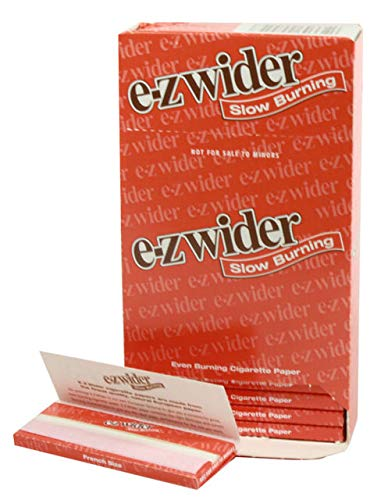 E-Z Wider Slow Burning Cigarette Rolling Papers (24 Booklets Retailers Box) 0054 (Best Slow Burning Joint Papers)