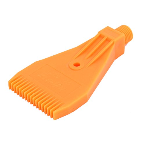 Jet Equipment Air - uxcell 1/4BSP Male Thread ABS Single Hole Air Blow Off Flat Jet Nozzle Orange