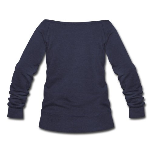 Does Your Butt Women's Wideneck Sweatshirt by Spreadshirt, XXL, melange navy