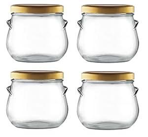 Nakpunar 4 pcs 29 oz Tureen Glass Jars