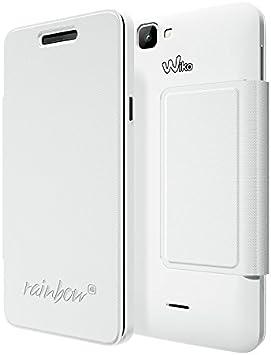 Wiko étui folio slim blanc pour WIKO RAINBOW 4G: Amazon.fr: High-tech