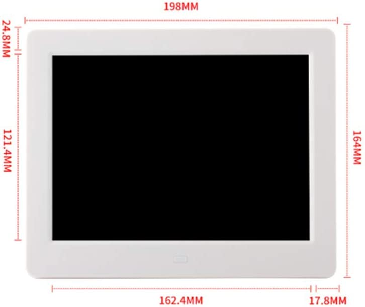 Digital Photo Frame 8 Inch Electronic Photo Frame Advertising Player Support Video Music Picture Play,Black