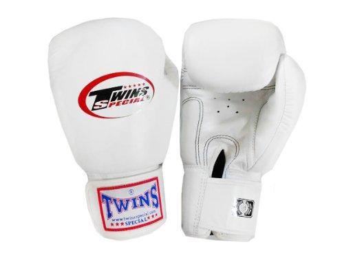 Twinsボクシングムエタイグローブ:ホワイト14オンス