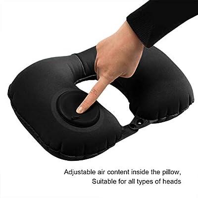 Amazon.com: Almohada hinchable de viaje en forma de U para ...