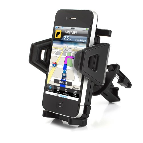 USA Gear Air Vent Car Mount Phone Holder with 360 Degree Rotating and Adjustable Cradle ;
