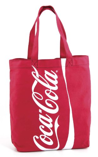 Coca-Cola Tote Bag in Recycled Bottle Material - Red Coca Cola Recycled Bottle