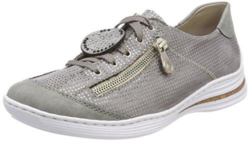 Rieker Chaussure De Damen M3518 Grau (ciment / Grau-silber)
