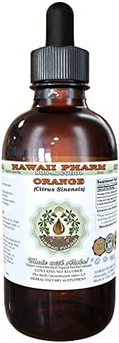 Orange Alcohol-FREE Liquid Extract, Orange (Citrus Sinensis) Peel Glycerite Natural Herbal Supplement, Hawaii Pharm, USA 4 fl.oz