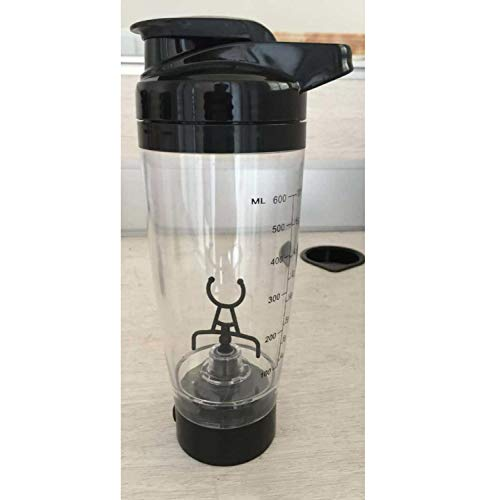 600Ml Electric Automation Protein Shaker Blender My Water Bottle Automatic Movement Coffee Milk Smart Mixer Drinkware,Black