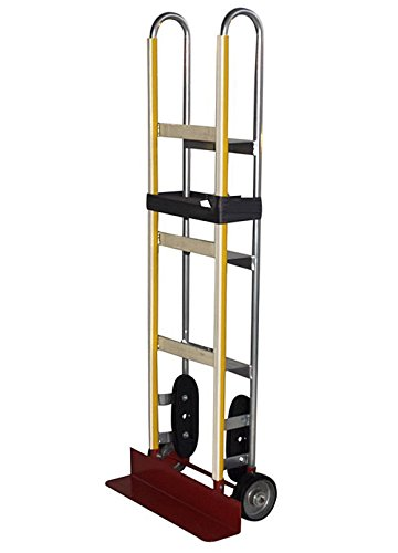 Milwaukee Hand Trucks 42187 Aluminum Appliance Truck with Ratchet Belt Tightener and Mold-on Wheels
