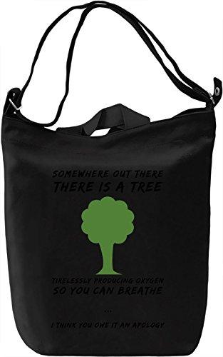 The tree Borsa Giornaliera Canvas Canvas Day Bag  100% Premium Cotton Canvas  DTG Printing 