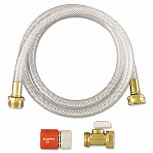 (Diversey RTD Water Hook-Up Kit, Switch, On/Off, 3/8dia x 5 ft - one kit containing one hose, nozzle, one Y-connector, one female quick-connect adapter and an instruction sheet.)