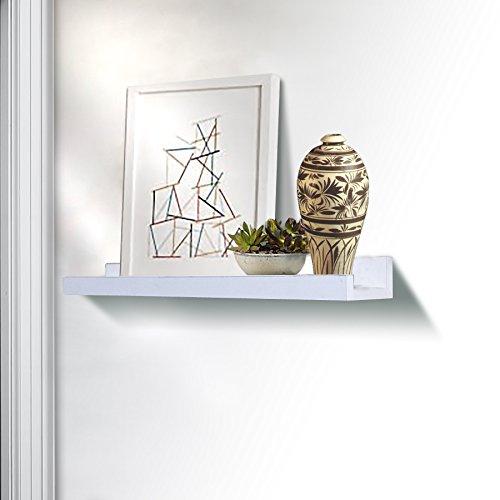 L-shaped Accent Shelf - SHELVING SOLUTION Large L Shaped Floating Shelf (21 3/4 Inch White)