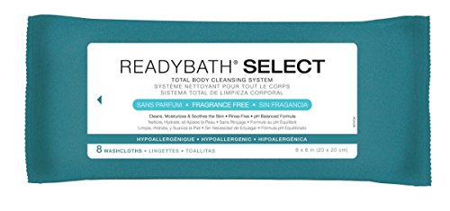 Medline ReadyBath Select Unscented Body Cleansing Cloths, Medium Weight (8 Count Pack, 30 Packs) by Medline