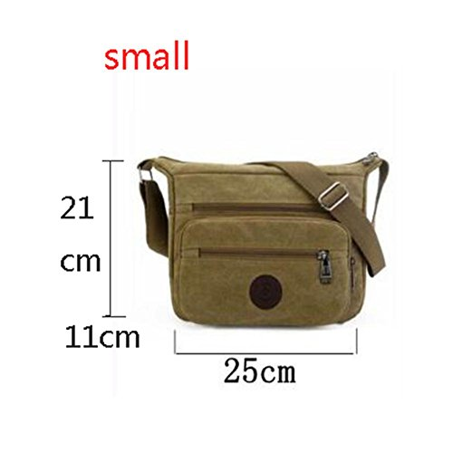 Bolso de hombro bolso de hombro de los hombres lona capacidad grande el tamaño de 4 colores 28 * 24 * 15cm / 25 * 21 * 11cm opcionales khaki trumpet khaki trumpet