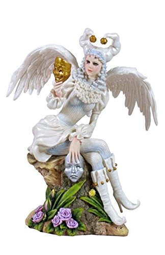 8.75 Inch Fairy Figure Winged Lady Jester Decor Display Myth Gift