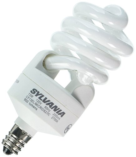 Sylvania 26941 - CF13EL/MICRO/827/C/BL/2PK Twist Candelabra Screw Base Compact Fluorescent Light Bulb (2 pack) (Bl Twist)