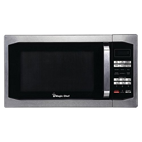 Magic Chef - MCM1611ST 1.6 cu ft Countertop Microwave, Stain