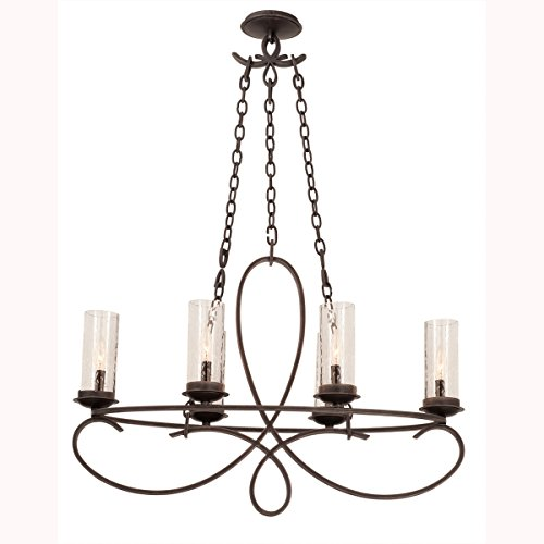 (Kalco 2673HB/1100 Grayson - Six Light Oval Chandelier, Glass Options: 1100: Seeded Glass )