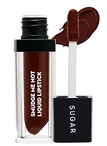 SUGAR Cosmetics Smudge Me Not Liquid Lipstick - 42 Toast Roast (Deep Reddish Brown)