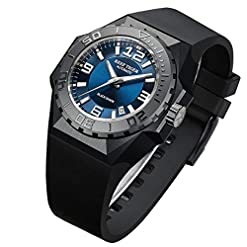 Reef Tiger/RT Mens Big Sport Mechanical Watches Black Steel Case Automatic Dive Watches RGA6903 Recommended deals [tag]