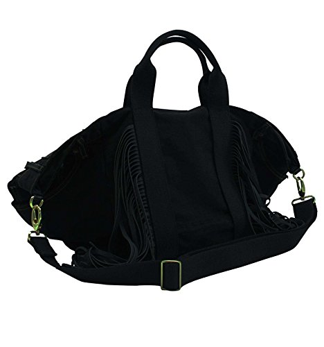 in con T Paola Borsa I nero Shopper iniziali in nero personalizzata metallo jeans qx64HF