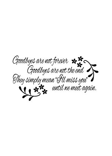 GOODBYES ARE NOT FOREVER GOODBYES ARE NOT THE END Novelty Aluminum Metal Sign 12X18 - Tigers Alarm Detroit