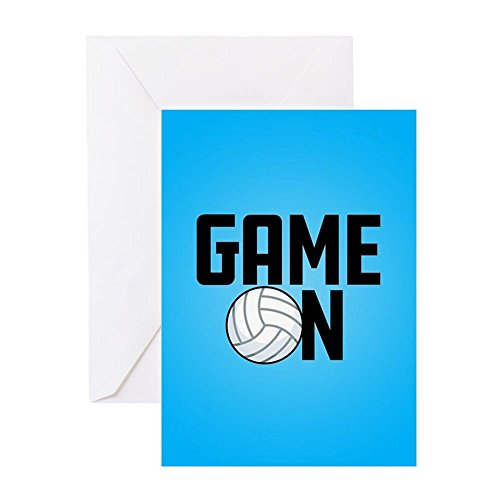 - CafePress Emoji Volleyball Game On Greeting Card (10-pack), Note Card with Blank Inside, Birthday Card Glossy