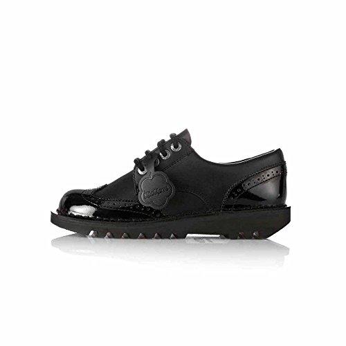 Kickers Kick Lo Brogue 110689, Chaussures à Lacets Femme Noir