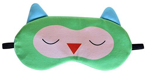 Nido Nest Sleep Eye Mask for Kids - Travel, Airplanes, Flights, Cars, Sleeping, Naps, Gifts - Toddler, Preschool, Elementary Children - OWL