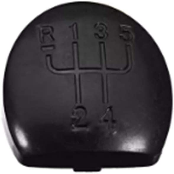 JenNiFer 5 Speed Car Gear Head Trim Cover Gear Shift Knob Cap For Renault Clio MK2 Black