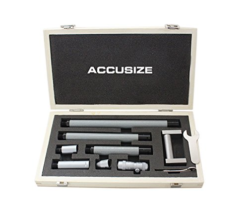 (Accusize Industrial Tools 2-24'' Range x 0.001'' Resolution Inside Micrometer Set,)