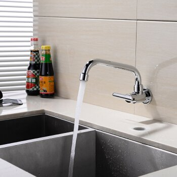 Wall Mounted Kitchen Faucet Mixers Sink Tap Wall Kitchen Faucet