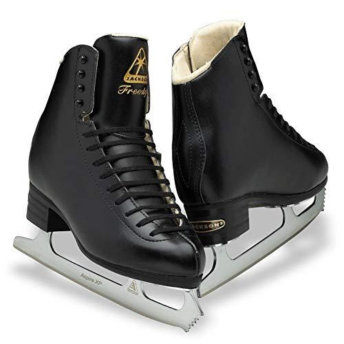Jackson DJ2192 Freestyle Men's Ice Skates Black Single Jump Level Figure Skating (M, 9)