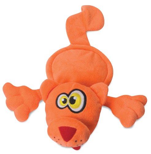 Hear Doggy 58516 Flattie Orange Cat Ultrasonic Silent Squeak Dog Toy, My Pet Supplies