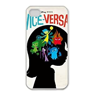 Fashion image DIY for iPhone 4 4s Cell Phone Case White Inside Out BAM2937692