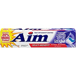 Aim Multi benefit tartar control toothpaste, 24 Count