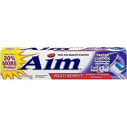 Aim Multi benefit tartar control toothpaste, 24 Count