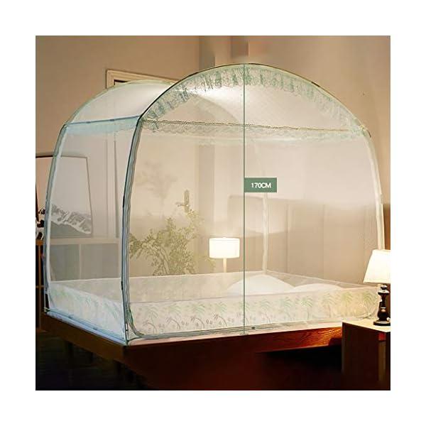 Yurt casa Doppio Semplice 1,5 m tenda zanzariera, facile da installare 1,8 m letto con staffa Dormitorio zanzariera… 3 spesavip