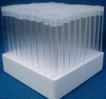 Plastic Test Tubes LTD Teströhrchen, mit Deckel, ca. 15cm lang, 100 Stück Höhe: 15,2 cm, 20 ml je Röhrchen neutral