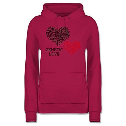 Shirtracer Romantisch - Genetic Love Fingerabdruck - Damen Hoodie Fuchsia