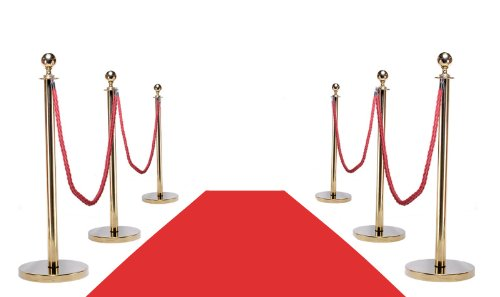 Amazon Com Vip Red Carpet Combo Special Pkg Inc  Gold Posts  X Red Carpet Home Improvement