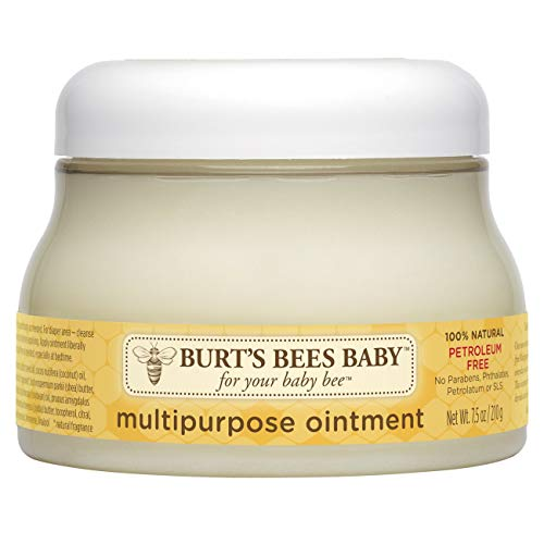 Burt's Bees Baby 100% Natural Multipurpose Ointment, Face & Body Baby Ointment - 7.5 Ounce Tub (Best Natural Baby Cream)