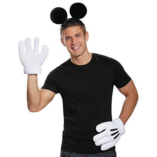 Disguise MICKEY MOUSE EARS GLOVES ADULT,Black,One-size ()