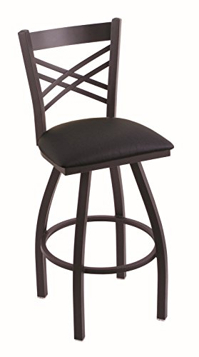 Holland Bar Stool Company 820 Catalina 25-Inch Counter Stool with Black Wrinkle Finish, Black Vinyl Seat and 360 Swivel from Holland Bar Stool Company