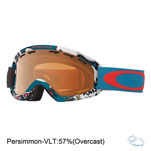 Oakley O-Frame 2.0 XS Snow Goggles, Shady Trees Blue/Red, - Ski Youth Goggles Oakley