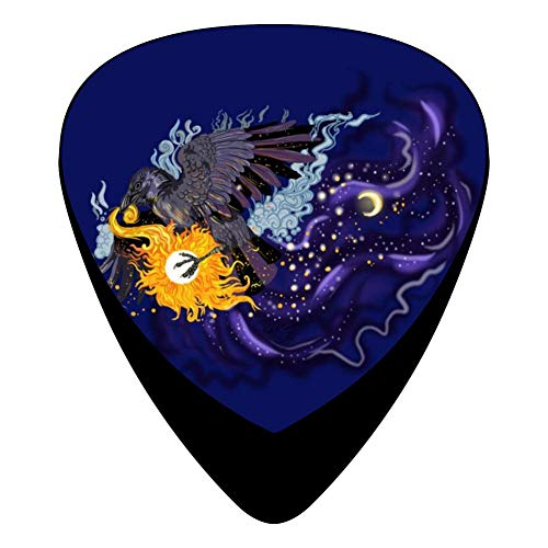 Raven Sky Folklore 351 Shape Medium Classic Celluloid Picks, 12-Pack, For Electric Guitar, Acoustic Guitar, Mandolin, And Bass